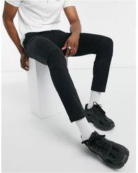 HUGO Iggy204D Chinos With Back Logo Tab In Black-черный