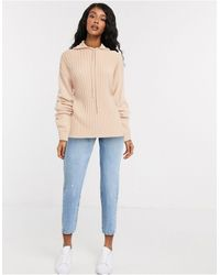 In The Style X Lorna Luxe - Lullaby - Hoodie d'ensemble côtelé - Blush - Multicolore