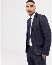 Antony Morato – Schmal geschnittene Anzugjacke - Blau