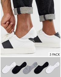 ASOS 5 Pack Invisible Liner Sock - Multicolour