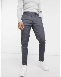 ASOS Nette Skinny Enkellange Broek Met Textuur - Blauw