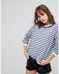 Blend She - Lola Pu Striped Sweater - Lyst