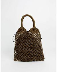 Oasis Woven Shopper Bag - Brown