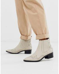 bea38ad9d00 Femme Cream Cowboy Boots - Natural