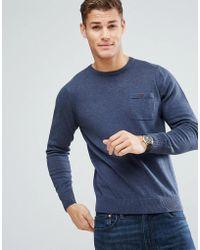 Ben Sherman - Long Sleeve Pocket Knit Jumper - Lyst