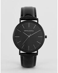 ASOS Черные Классические Часы С Лакированным Ремешком - Черный