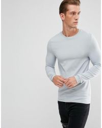 ASOS | Muscle Fit Long Sleeve T-shirt | Lyst