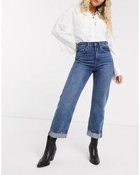 AllSaints Mari - Boyfriend Jeans - Blauw