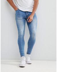 Kings Will Dream Super Skinny Jeans In Light Wash - Blue