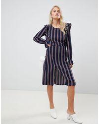 Vila Stripe Co-ord Skirt - Blue