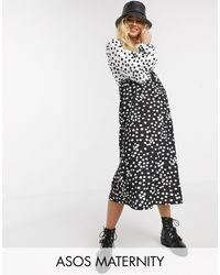 ASOS Asos Design Maternity Exclusive Smock Midi Dress - Multicolour