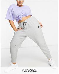 Nike - Серые Флисовые Джоггеры Plus Tech-серый - Lyst