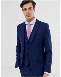 French Connection – Schmal geschnittene, schlichte Anzugjacke - Blau