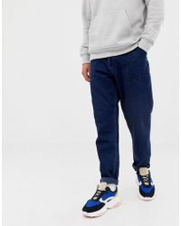 ASOS - Relaxed Tapered Jeans In Deep Indigo Recycled Denim - Lyst