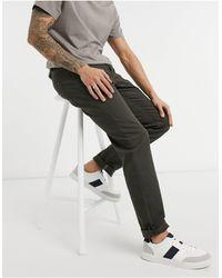 Ted Baker Straight Fit Khaki Denim Jeans - Green