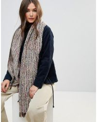 Lavand - Multi Colour Chunky Oversized Knitted Scarf - Lyst