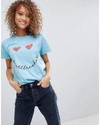 ASOS - Valentines T-shirt With Heartbreaker Print - Lyst