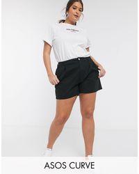 ASOS Pantalones cortos chinos en negro