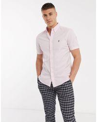 French Connection Розовая Оксфордская Рубашка С Короткими Рукавами -розовый