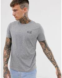 EA7 Armani – Train Core ID – Schmales T-Shirt mit Logo - Grau
