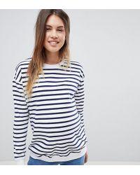 ASOS | Asos Design Maternity Sweat In Stripe | Lyst