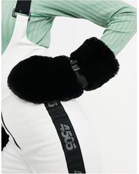 ASOS 4505 Варежки Из Искусственного Меха Ski-черный Цвет