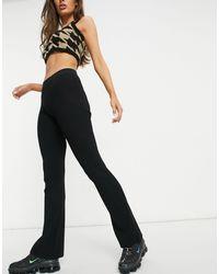 Weekday Orina Knitted Slim Trousers - Black