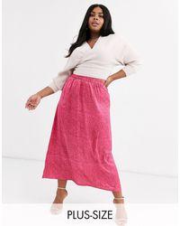 AX Paris A-line Midi Skirt - Pink