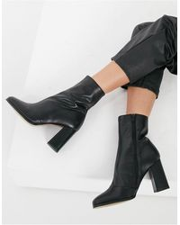 Whistles Leather Heeled Boots - Black