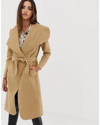 AX Paris Oversize-пальто С Поясом -коричневый - Естественный