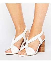 ASOS - Tallulah Wide Fit Heeled Sandals - Lyst