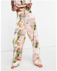 River Island Атласные Пижамные Брюки Розового Цвета С Принтом Пейсли (от Комплекта) -розовый Цвет
