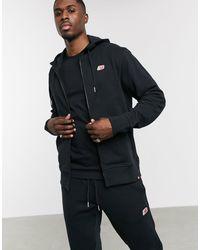 New Balance Felpa con zip e piccolo logo nera - Nero