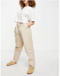 Object Pantalon coupe ovoïde en coton biologique - Taupe - Neutre