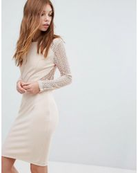 Oeuvre - Long Sleeve Lace Dress - Lyst