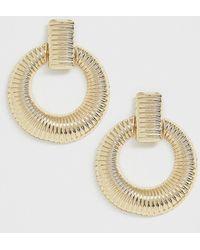 ASOS - Doorknocker Earrings In Vintage Style In Gold Tone - Lyst