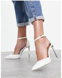 Call It Spring By Aldo Dalinna Vegan Ankle Strap Court Shoes - White