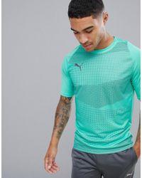 PUMA - Soccer Graphic T-shirt In Mint 655781-04 - Lyst