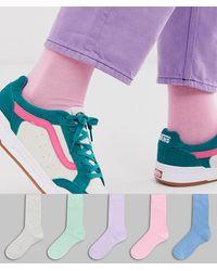 ASOS Lot de 5 paires de chaussettes couleur pastel - Économie - Multicolore