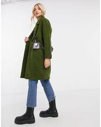 Liquorish Fluffy Straight Coat - Green
