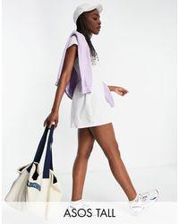 ASOS 4505 Трикотажное Теннисное Платье Tall-белый - Многоцветный