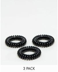 Invisibobble Power Strong - Confezione da 3 elastici per capelli - Nero