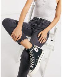 TOPSHOP Straight Leg Jeans - Black
