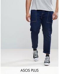 ASOS Asos Plus Tapered Jeans - Blue