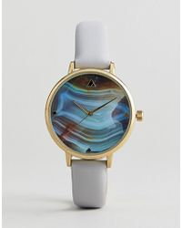 ASOS - Design Watch With Stone Slice Print - Lyst