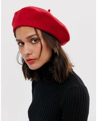 ASOS Wool Beret - Red