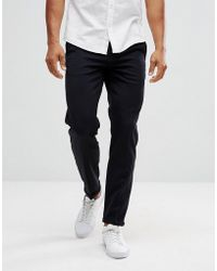 Lindbergh - Cropped Trousers In Navy - Lyst