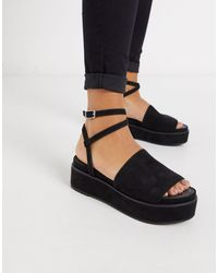 ASOS – Tabitha – e Flatform-Sandalen mit dicker Sohle - Schwarz