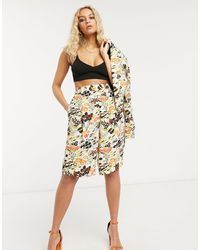 TOPSHOP Idol Floral Bloom Print City Shorts - Multicolour