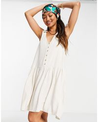 Y.A.S - Свободное Платье Кремового Цвета С V-образным Вырезом -белый - Lyst